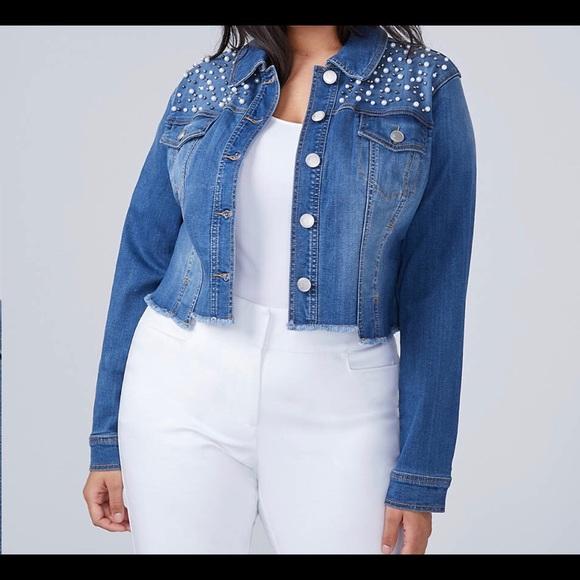 8e7644f2233 Lane Bryant Plus Size 24 Denim Blue Jean Jacket